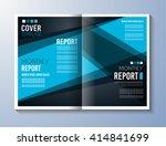 brochure template  flyer design ... | Shutterstock . vector #414841699