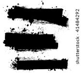 three ink splat banners with... | Shutterstock .eps vector #41484292