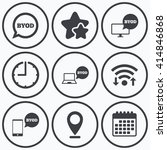 clock  wifi and stars icons....   Shutterstock .eps vector #414846868