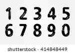 grunge numbers set.vector... | Shutterstock .eps vector #414848449
