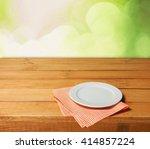 plate. | Shutterstock . vector #414857224