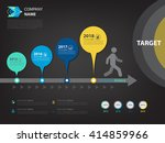 milestone and timeline plan for ... | Shutterstock .eps vector #414859966