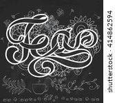 tea. outline ribbon text... | Shutterstock .eps vector #414862594
