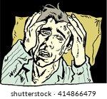 illustration frightened man in... | Shutterstock .eps vector #414866479