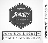 "vector logotype. example  ""john ... | Shutterstock .eps vector #414870328"