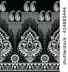 traditional paisley indian motif | Shutterstock .eps vector #414883444