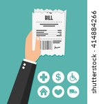 paying bill. flat icon | Shutterstock .eps vector #414884266