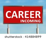 career. road sign on the sky... | Shutterstock . vector #414884899