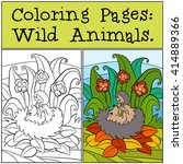 coloring pages  wild animals.... | Shutterstock .eps vector #414889366