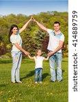 family house concept  parents... | Shutterstock . vector #414889759