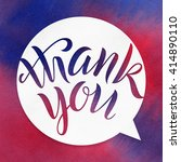 thank you. lettering on...   Shutterstock . vector #414890110