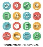 modern flat business icons set... | Shutterstock .eps vector #414893926