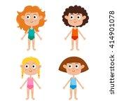 young european girls body... | Shutterstock .eps vector #414901078