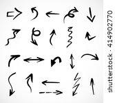 hand drawn arrows  vector set   Shutterstock .eps vector #414902770