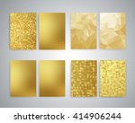 gold flyer design templates.... | Shutterstock . vector #414906244