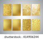 gold flyer design templates.... | Shutterstock . vector #414906244