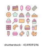 candy illustration. dessert... | Shutterstock .eps vector #414909196