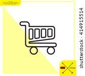 vector shopping cart line icon | Shutterstock .eps vector #414915514