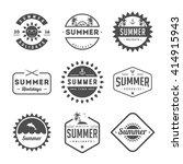 set of summer holidays labels... | Shutterstock .eps vector #414915943