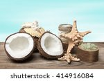 spa coconut products and marine ... | Shutterstock . vector #414916084