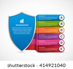 infographic with security... | Shutterstock .eps vector #414921040