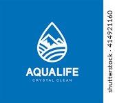modern vector aqua life logo... | Shutterstock .eps vector #414921160