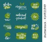 vector eco  organic  bio logos...   Shutterstock .eps vector #414921949