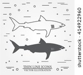 shark thin line design. shark...