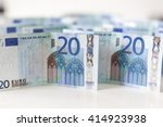 Twenty Euro Banknotes Money