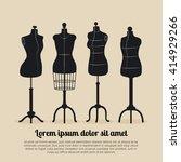 female body vintage mannequin... | Shutterstock .eps vector #414929266