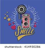 retro camera | Shutterstock .eps vector #414930286