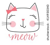 cute cat | Shutterstock .eps vector #414930340