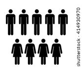 people icon   men   women vector | Shutterstock .eps vector #414930970