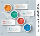 vector abstract 3d paper... | Shutterstock .eps vector #414931264