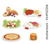 illustration of various food... | Shutterstock . vector #414932206