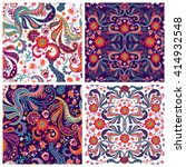 set of traditional oriental... | Shutterstock .eps vector #414932548