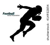 football player silhouette.... | Shutterstock .eps vector #414932854