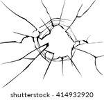 vector broken glass. isolated... | Shutterstock .eps vector #414932920