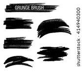 vector set of grunge brush... | Shutterstock .eps vector #414940300