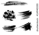 vector set of grunge brush... | Shutterstock .eps vector #414940330