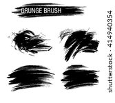 vector set of grunge brush... | Shutterstock .eps vector #414940354