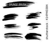 vector set of grunge brush... | Shutterstock .eps vector #414940384