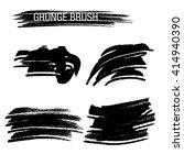 vector set of grunge brush... | Shutterstock .eps vector #414940390