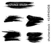 vector set of grunge brush... | Shutterstock .eps vector #414940408