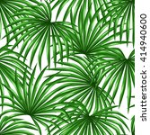 seamless pattern with palms... | Shutterstock .eps vector #414940600