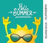 hello summer rock n roll poster. summer party design template | Shutterstock vector #414940894