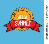 vector summer fun background.... | Shutterstock .eps vector #414940954