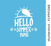 vector summer fun background.... | Shutterstock .eps vector #414941068
