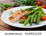 Baked Salmon Garnished With...