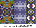 set of 3 abstract patterns.... | Shutterstock .eps vector #414941278